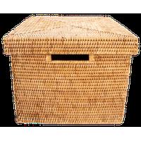 Artifacts Rattan Storage Box, Honey Brown