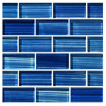 "artistryinmosaics - 12""x12"" Glass Tile Blends Watercolors Series, Caribbean Blue - Revitalize well-loved surfaces with the brilliance of the Blends Watercolors Series Glass Tiles. These glass mosaic tiles are ideally suited for swimming pools, walls, backsplashes and floors, and their handmade, frost-proof quality ensures that they'll be a striking addition for years to come. The Artistry in Mosaics, Inc. brand strikes to create contemporary products with a modern edge, and these tiles fit that bill."