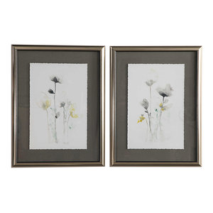 Uttermost Stem Illusion Floral Art, 2-Piece Set