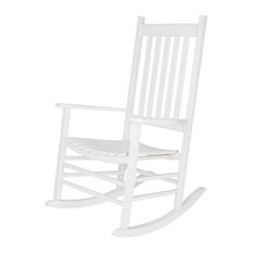 Bay   Patsy Porch Rocker, White   Outdoor Rocking Chairs