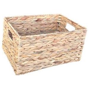 Water Hyacinth Rectangular Storage Basket, Medium