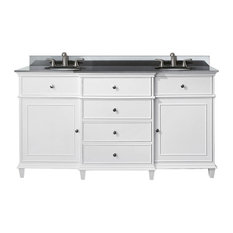 61 in. Vanity with Black Granite top