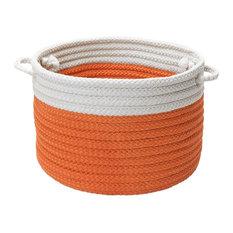 """Dipped Indoor/Outdoor Basket, Orange, 14""""x10"""""""
