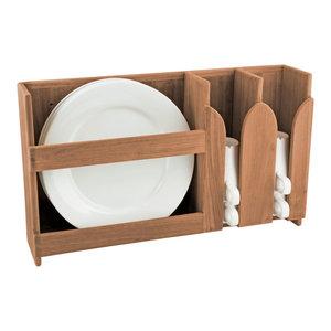 Teak Dish Rack Transitional Pantry