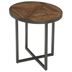 Transitional Side Tables And End Tables Magnussen Lakeside Oval End Table, Natural Sienna