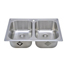 Wells Sinkware Double Topmount Sink