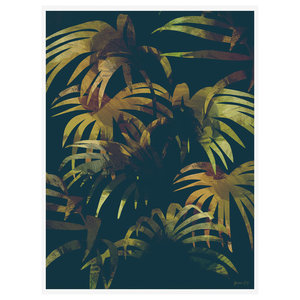 """""""It's A Jungle Out There"""" Tropical Art Print, Print Only, 50x70 cm"""