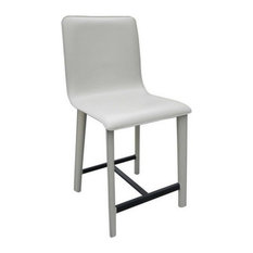 Perugia Leather Counter Stool, Leather: Chocolate