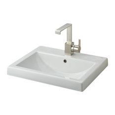 Cheviot Products Camilla Semi-Recessed Sink, Single Hole Faucet Drilling