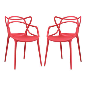 Modway Entangled Dining Side Chair In White Set Of 2