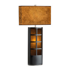 Most popular parchment paper lamp shade houzz for 2018 houzz nova of california ventana table lamp dark brown table lamps aloadofball Images