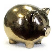 Pig, Ceramic, Bronze