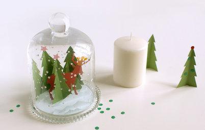 DIY : Fabriquez un paysage d'hiver en papier