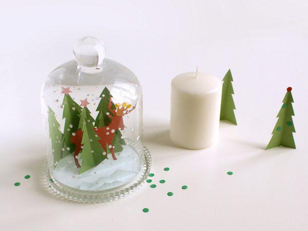 Decorazioni Natalizie Cartoncino.Decorazioni Natalizie Magico Paesaggio Invernale In Cartoncino