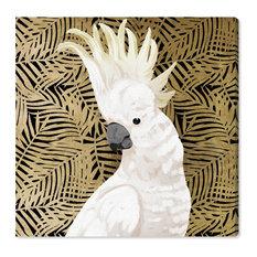 """Gold Cockatoo Profile"" Canvas Art Print, 90x90 cm"