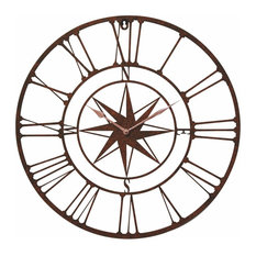 Wind Rose Compass Wall Clock