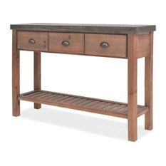 VidaXL Solid Fir Wood Console Table 48-inch Side Hallway Storage Stand Furniture