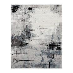 "Solstice Grey Tones/White Area Rug, Gray, 7'9""x9'9"""