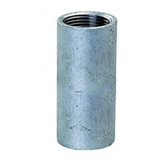 "Everflow Supplies  2"" Straight Merchant Steel Coupling With Galvanized Coating"