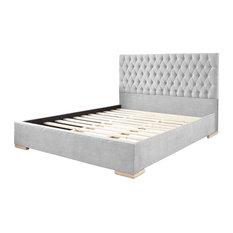 Farnley Upholstered Bed Frame, Silver, Super King