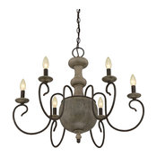 Luxury French Country Corinthian Wood Chandelier, UQL2150, Porto Collection