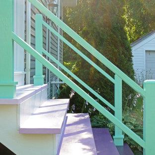 Immagine di ampi case e interni stile shabby