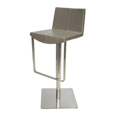 City Faux Leather Swivel Bar Stool, Grey