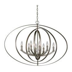 Luxury Industrial Chic Chandelier, Arezzo Series, Brushed Nickel