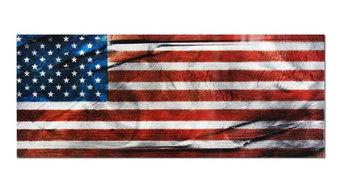 American Glory, Patriotic US Flag Metal Wall Art, Giclee on Metal