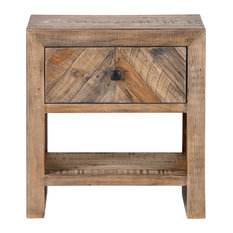 Moes Home Rustic Teigen Night Stand With Brown Finish FR-1005-03