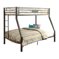 Acme Limbra Twin/Full Bunk Bed, Brown