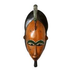 Novica Bridal Beauty Ivorian Wood Mask