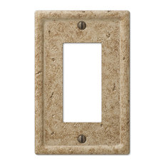 amertac faux stone resin 1rocker wall plate noce switch plates and