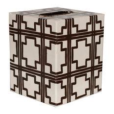 Kleenex Cream Tissue Box Cover, Cream/Brown