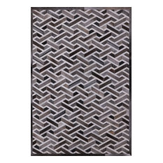 Cowhide Hand Stitched Area Rug 6'x9'