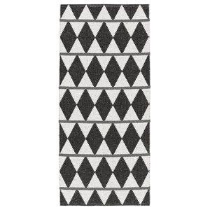 Zigge Woven Vinyl Floor Cloth, Black, 70x300 cm