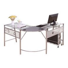 acme furniture brielle computer desk silver desks and hutches asian office furniture