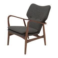 Patrik Occasional Chair, Tweed Fabric