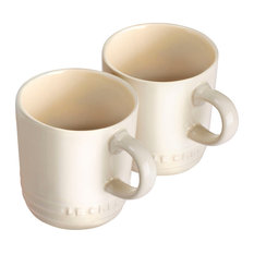 Le Creuset Stoneware Espresso Mugs, Almond, Set of 2