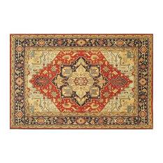 Traditional Rug, Red, 10'x14', Serapi, Handmade Wool