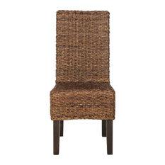 Avita Wicker Dining Chairs Set Of 2 Brown