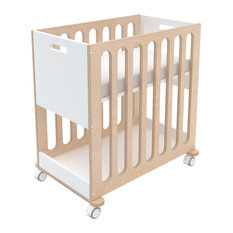 Fawn Bassinet and Crib, Birch and White