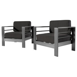 Contemporary Outdoor Lounge Chairs by GDFStudio