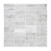 Carrara Venato Marble 1x3 Stacked Mosaic Tile