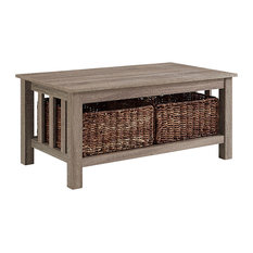 Mission Storage Coffee Table, Driftwood