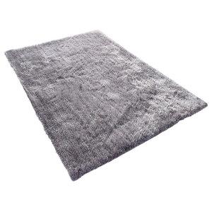 Tom Tailor Soft Shaggy Rug, Grey, 160x230 cm