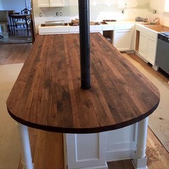 Heres An Oiled Rustic Walnut Topno Stain Needs To Be Added The Oiling Brings Out Rich Dark Color