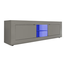 Modern Anti-Scratch TV Unit, Pewter