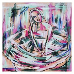 """JonnaSentado"" Acrylic Painting, 100x100 cm"
