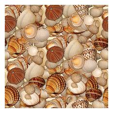 Seashell Medley Shelf Paper Drawer Liner, 36x24, Laminated Vinyl